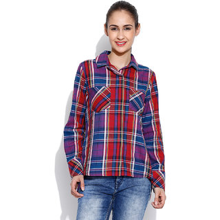 ENVY ME CHECK SHIRT WITH BACK SLIT EM15084 available at ShopClues for Rs.1149