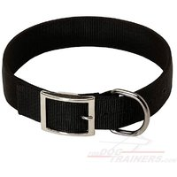 Pawzone 2 Inch Black Dog Collar