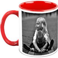 Homesogood Playing With My Little Brother White Ceramic Coffee Mug - 325 Ml
