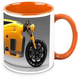 Homesogood Custom Designed Automobile White Ceramic Coffee Mug - 325 Ml
