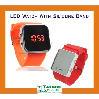 New Special Quality LED Watch With Silicone Band (Next Generation Watch)