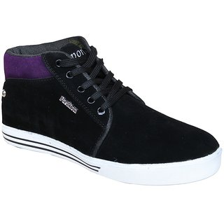 Sukun Mens Black Lace-up Smart Casuals
