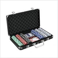 CASINO SIZE POKER CHIP GAME SET 300 PCS