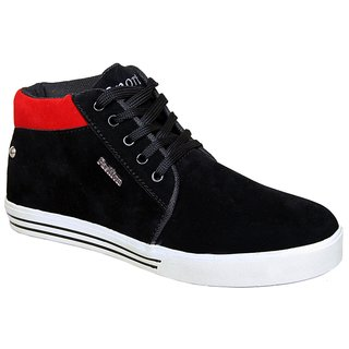 Sukun Black Red Casual Shoes For Men