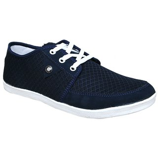 Sukun Mens Blue Lace-up Casual Shoes