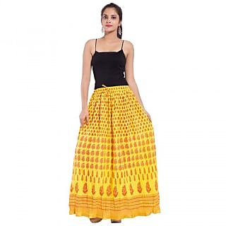 Uniqe Jaipuri Design Printed cotton Regular fit long Skirt