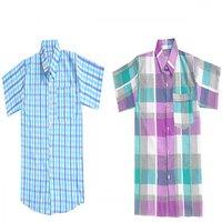 Cotton Multicolour Pack Of 2 Kids Shirts