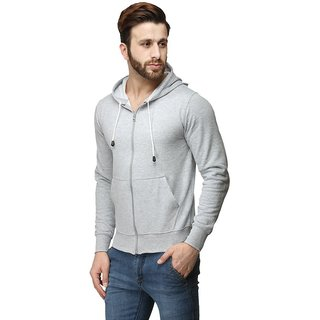 Mens Navy Full sleeve Plain Hoodies With Pocket