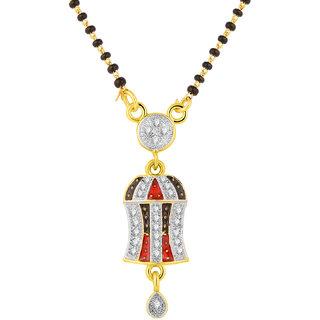 JC01000810 Jewelscart Meenakari Dangle Drop Alloy Mangalsutra
