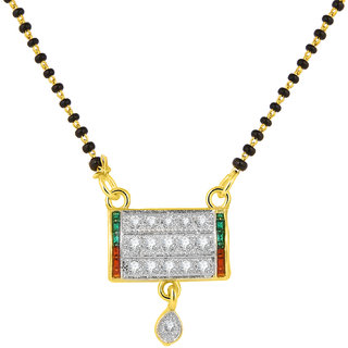 JC01000812 Jewelscart Meenakari Dangle Drop Alloy Mangalsutra