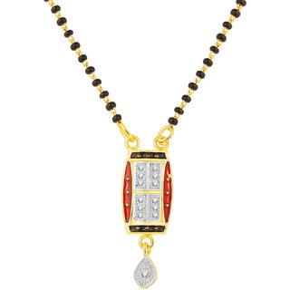 JC01000815 Jewelscart Meenakari Dangle Drop Alloy Mangalsutra
