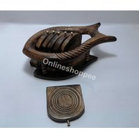 Wooden Coaster Set Fish Design