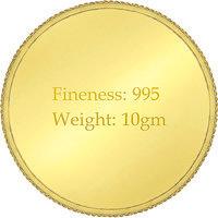 E Gitanjali 10 gm 24 KT 995 Purity Plain Gold Coin BIS Hallmarked