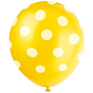 Beautiful YELLOW Color Polka Dot Party Balloons Big Size 100 PC Best Quality