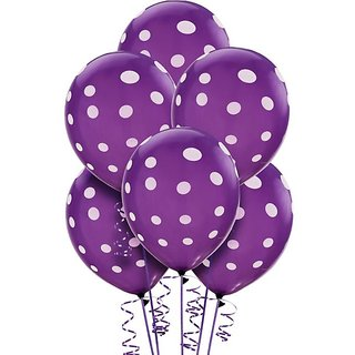 Beautiful PURPLE Color Polka Dot Party Balloons Big Size 30 PC Best Quality