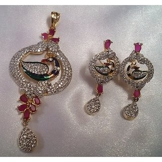 Ad Pendant With Earring