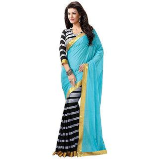 Party Wear Bhagalpur Designer Saree  Blue Saree