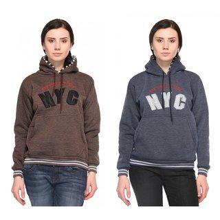Wajbee Women Sweatshirt Pack of 2