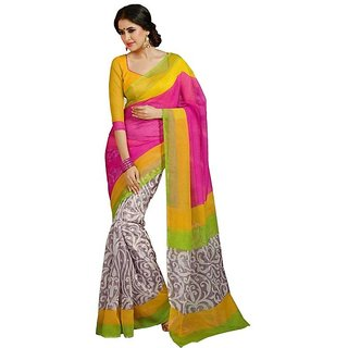 Fashion Star Multi Bhagalpuri Silk Saree