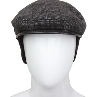 Black Cotton Golf Cap For Men