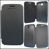 Micromax A110 Canvas 2 Superfone Luxury Leather Flip Hard Back Cover Case