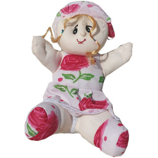 Soft toy Sitting printed doll for kids 39 cm SE-ST-08