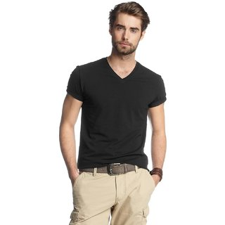 Born to Ride Men's V Neck T-Shirt - Black
