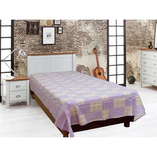 Akash Ganga Blue Cotton Single Diwan Bedsheet (Diwan9)