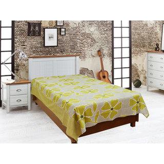 Akash Ganga Green Single Diwan Bedsheet (Diwan12)