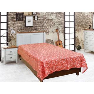 Akash Ganga Orange Single Diwan Bedsheet (Diwan14)