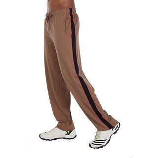 John Caballo Track-Pant ( 100% Cotton) - Brown With Black