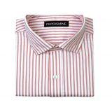 Peprismine Formal Shirts Better Fit Mens Shirts White Lavender Stripes Clone