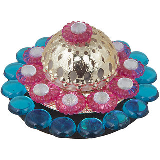 Sukkhi Designer Diyaa Candle In Blue, Pink And Yellow