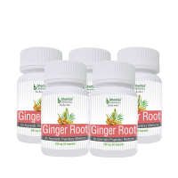 Ginger Root Capsules 60s - Asthma , Antioxidant, Reduce Menstrual Pain, Relieve A Headache, Arthritis (Pack Of Five)