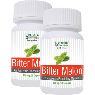 Bitter Melon Capsules 60s - Psoriasis Kidney Stones Liver disease HIV/Aids (Pack of Two)