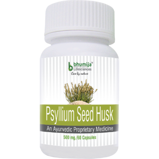 Psyllium Husk (Isabgol) Capsules 60s - Relief from Constipation