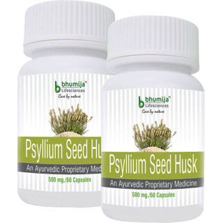Psyllium Husk (Isabgol) Capsules 60s - Relief from Constipation (Pack of Two)