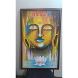 Lord Budhha Painting Wall Art (Oil Paint) with framing