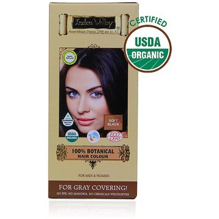 Indus Valley Organic Botanical Hair Colour Soft Black Kit