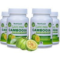 NutriLeon Garcinia Cambogia Pure For Weight Loss 500mg 60 Capsules Pack Of 4