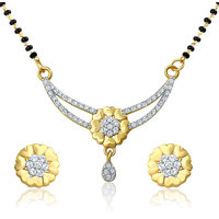 Mahi Gold Plated Shades of Love Mangalsutra set with CZ for Women NL1106003G
