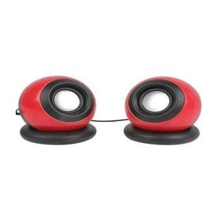 Soroo-USB-Speakers-2-Computer-Speakers-Red