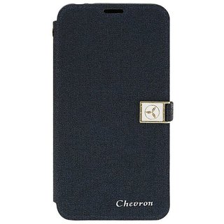 Chevron Royal Armour Flip Cover With Stand Mode for Moto X Play (Blue)