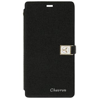 Chevron Royal Armour Flip Cover With Stand Mode for Moto G 2nd Gen (Black)