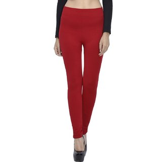 Aniance Apparel Slimming Waistband Women Leggings (Red)