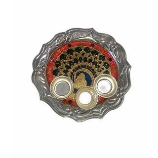 Captivating Designing German Silver Plated Lota Thali Set