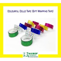 New Colourful Gift Wrapping Cello Tape (Set Of 12 Pc.)