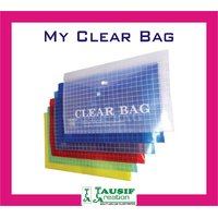 New My Clear Bag / A4 Size / Assorted Colours (Set Of 6 Pc.)