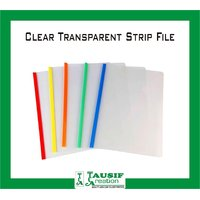 New Clear Transparent Strip File / A4 Size / Assorted Colours (Set Of 20 Pc.)