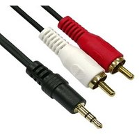3.5MM 3.5 MM MALE TO 2RCA 2 RCA MALE STEREO AUDIO GOLD PLATED CABLE HIGH QUALITY